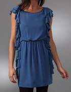 Tibi side ruffle dress...