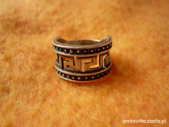 grecka obrączka srebrna