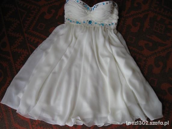 Na specjalne okazje Sukienka Ecri CUDO z kamyczkami HANDE MADE