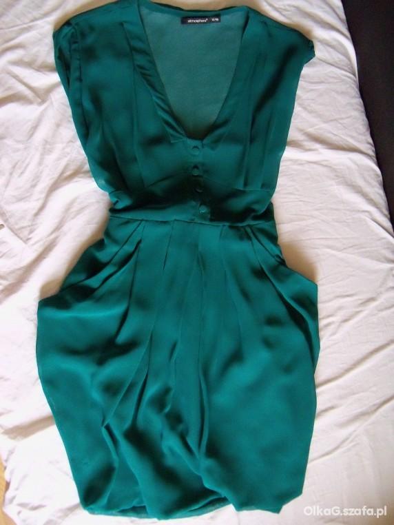 Sukienka tulipan butelkowa zieleń M L