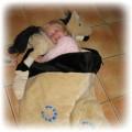 Nowy pluszowy śpiworek z poduszką KONIK