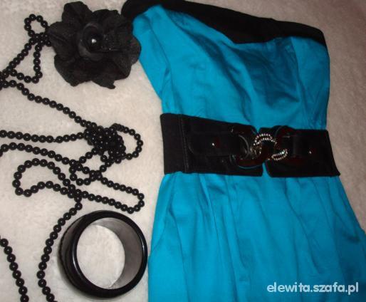 Turkusowa sukienka M