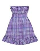 Fioletowa sukienka w kratkę...