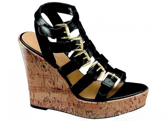 Buty damskie na wysokim koturnie