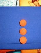 Torebka za 3 zł DIY kobaltowo pomarańczowa