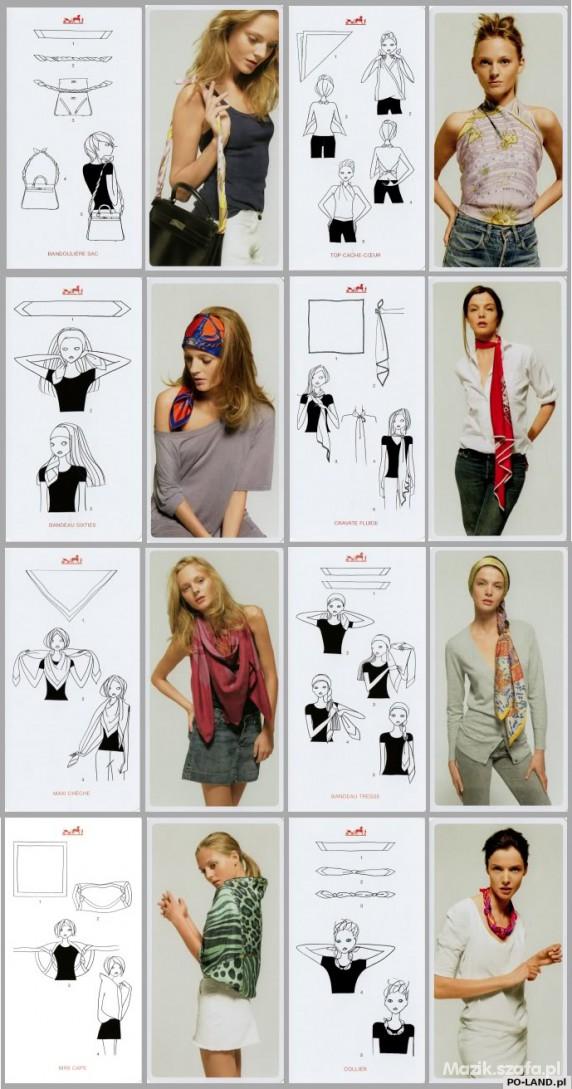 Codzienne Ciekawe pomysły na wiązanie chusty