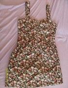 floral sukienka zip