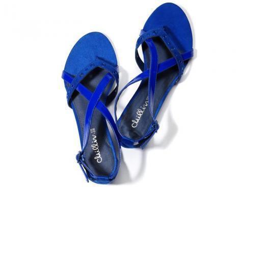 kobaltowe sandałki