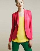 Zara WOMAN Marynarka kolory ORANGE PINK