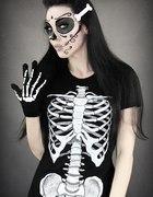 T shirt kościotrup szkielet ludzki żebra