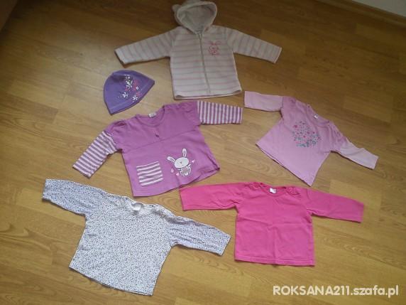 Komplety kaplet bluzeczek dla dziewczynki