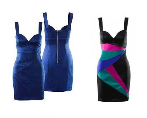 Kobaltowa sukienka H&M...