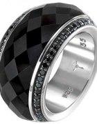 JOOP pierścionek z onyksem JETTE...