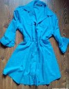long koszula M niebieska