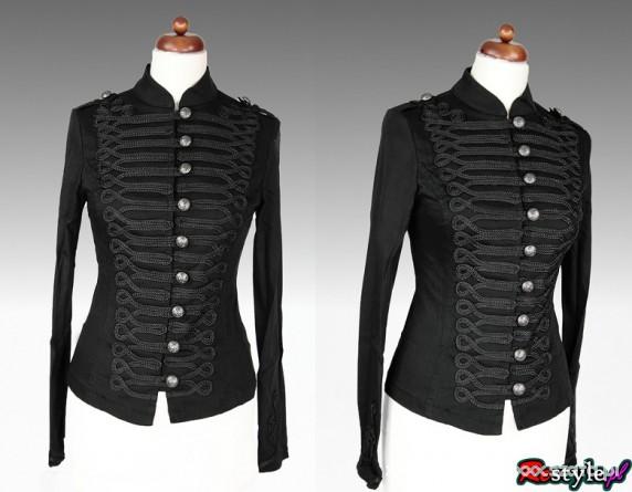 Ubrania Militarny czarny żakiet Restyle