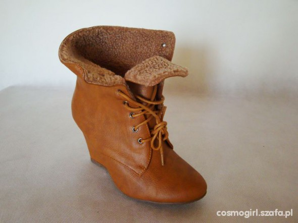 lace up wedges camel rozmiary