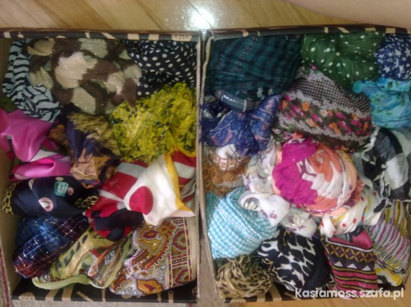 Chusty i apaszki moja mała kolekcja