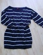 Sweterek H M pasiak oversize