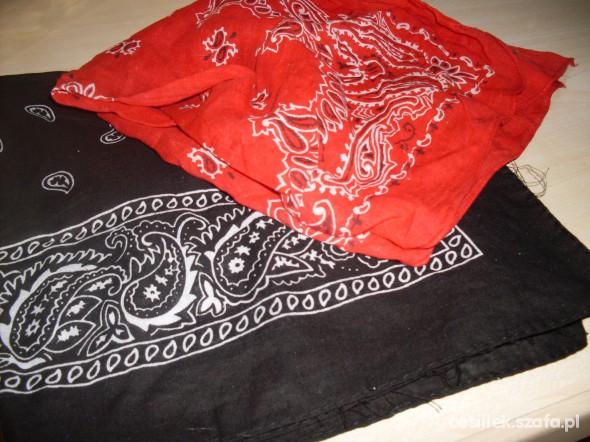 Chusty i apaszki super BANDANKI czarna i czerwona
