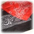 super BANDANKI czarna i czerwona