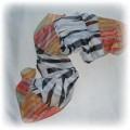Apaszka kolorowa w zebrę