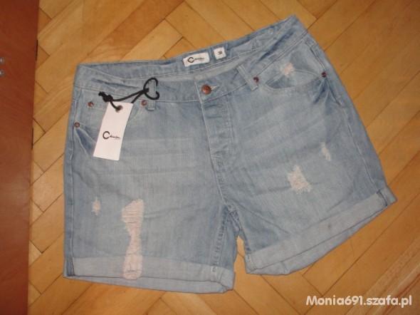 jeansowe szorty cubus...