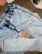 Leginsy jeansowe niebieskie pilnie