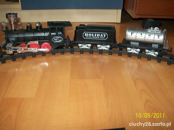 Zabawki kolejka i tory na baterie