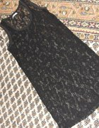 Vila sukienka tunika koronka czarna