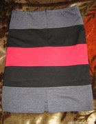 Spódniczka ZIP 3 kolorowa