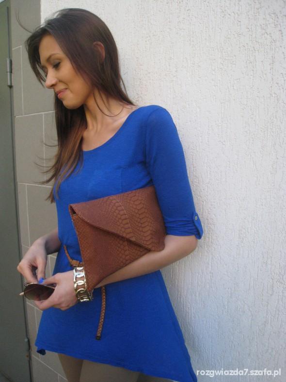 Mój styl Kobalt brąz kopertówka xxl