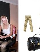 złote spodnie zara