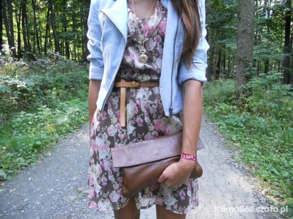 Mój styl RAMOSIA FLORAL DRESS AND CARMEL