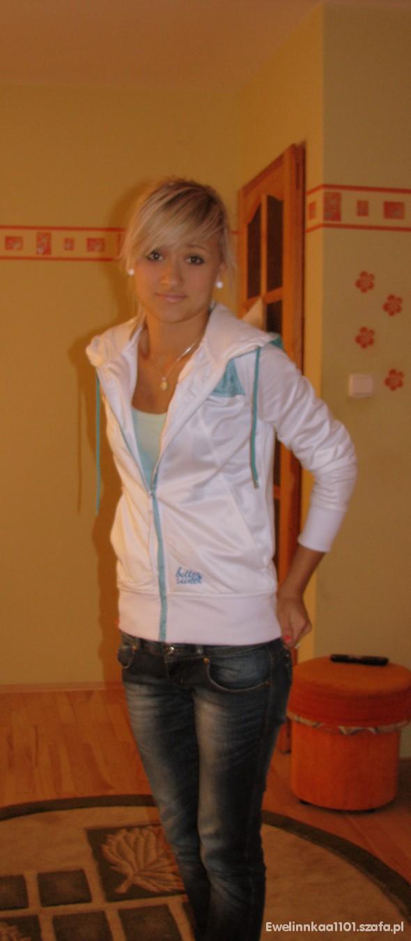 Sportowe Biała bluza
