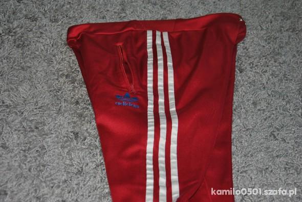 spodnie ADIDAS S czerwone oldschool w Dresy Szafa.pl