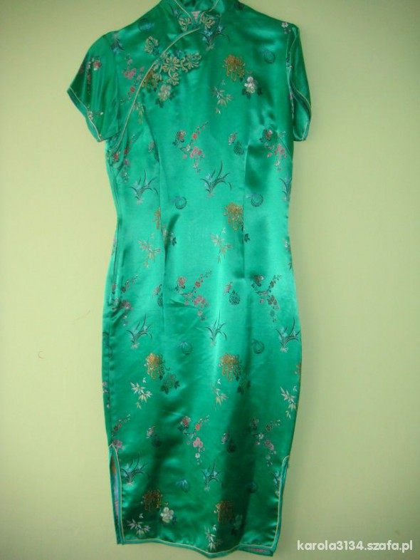 97f3369896 Piękna satynowa sukienka w stylu japońskim z UK 38 w Suknie i ...