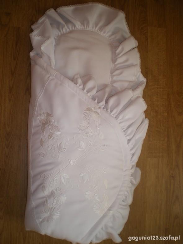 Komplety wszystko do chrztu ubranko becik okapnik stroik