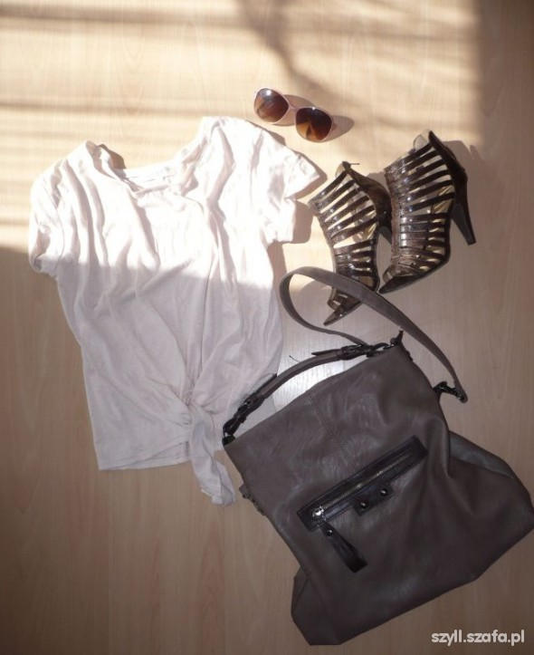 Mój styl bluzka buty torba okulary