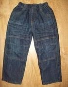 dżinsowe ciepłe spodnie