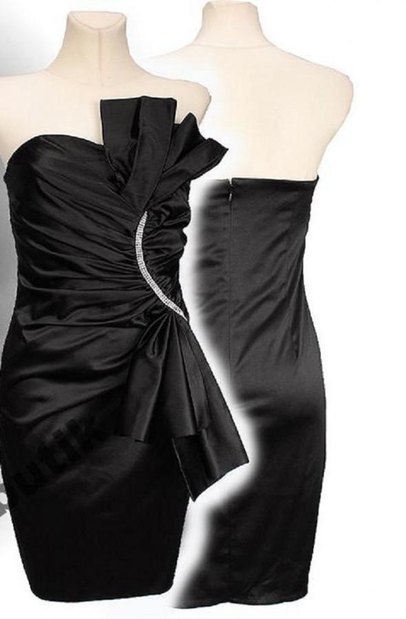 Ubrania Czarna sukienka wachlarz