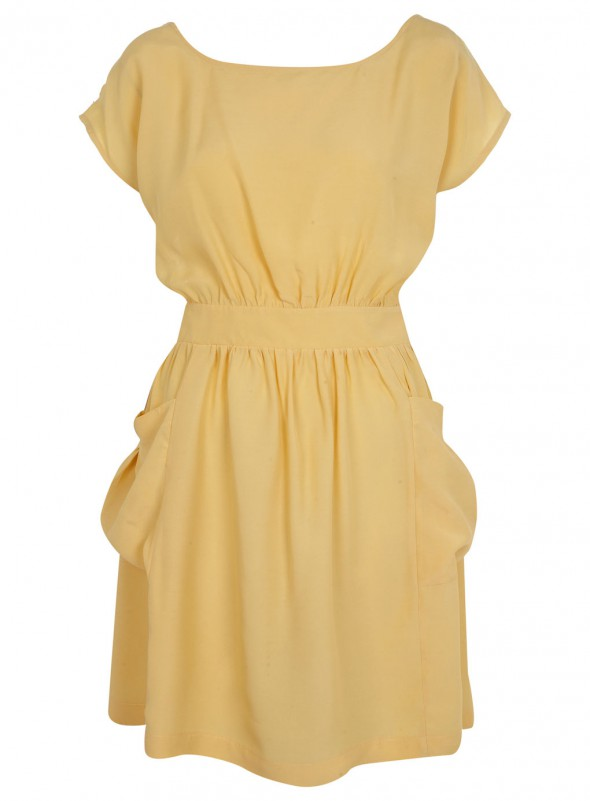 OSTATNIA Miss Selfridge lemon dress
