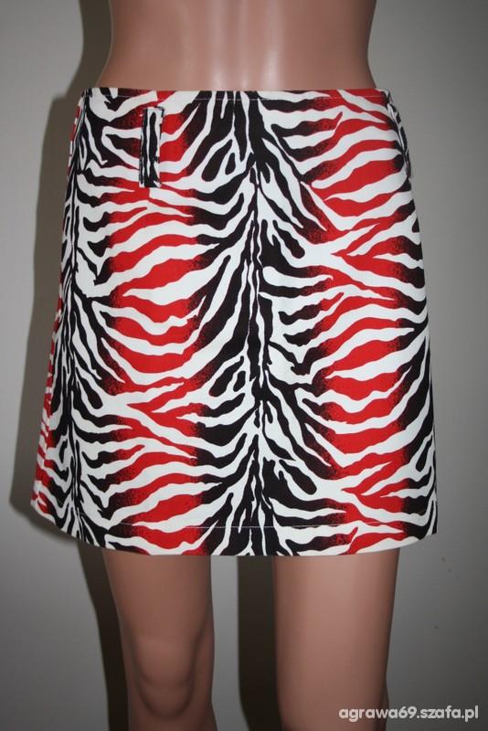 zebra czarno biało czerwona spódnica ADILISK