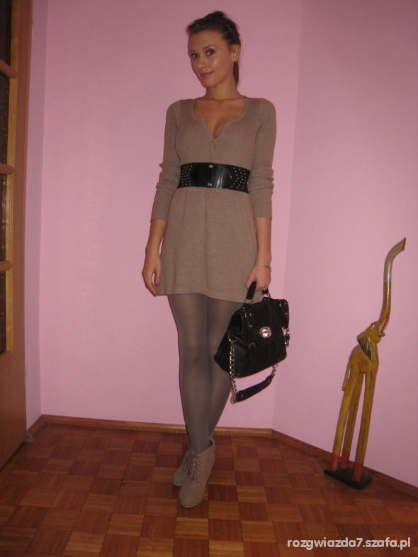 Mój styl Swetro sukienka Cubus