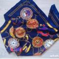 apaszka marynarska łańcuchy niebieska