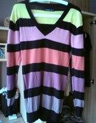 Kolorowy sweter tunika...