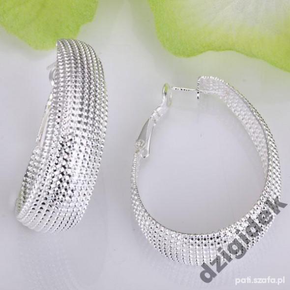 kolczyki owalne kolka silver