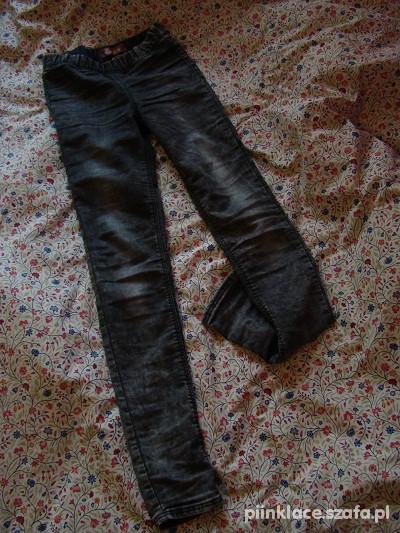 Spodnie rurki marmurki szare xxs H&M