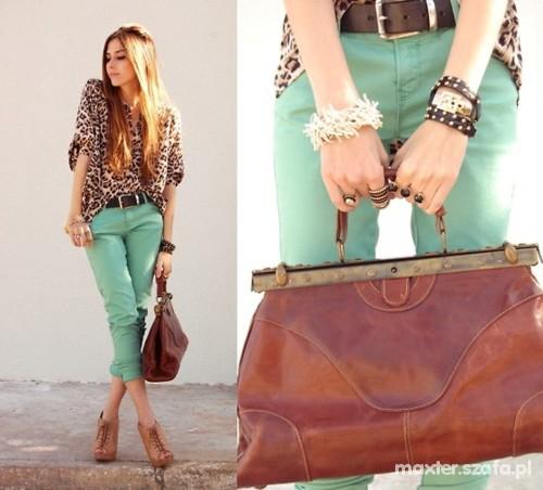 green skinny jeans