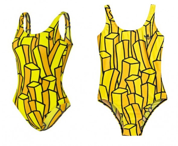 Jeremy Scott french fries swimsuit frytki kostium...