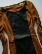 ruda sukienka tunika zip...